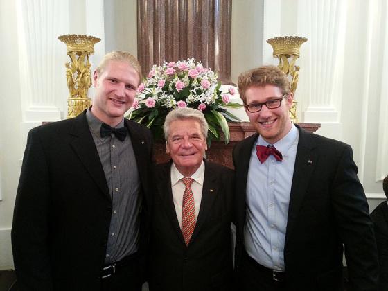Silbernes Lorbeerblatt für Johan Driessen und Jakob Husen