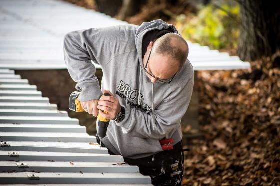 Neues Dach – Außenschuppen